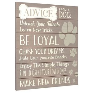 Other - HOME // Advice From a Dog Wall Hanging